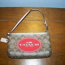 Coach Wristlet Hand Clutch Hand Bag Wallet Good Condition Photo
