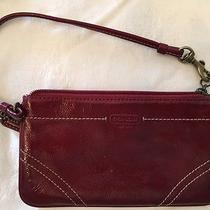 Coach Wristlet in Deep Red Photo