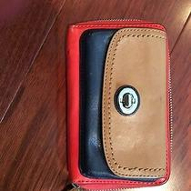 Coach Wristlet Leather Wallet With Zipper Photo