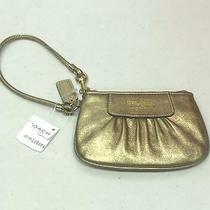 Coach Wristlet Madison Leather Gold Women Small Handbag New Nwt Photo