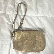 Coach Wristlet Metallic Gold Limited Edition Photo
