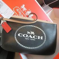 Coach Wristlet Nwt and Box Black  Kept in Box in Closet Bought at Coach Store Photo