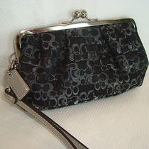 Coach Wristlet or Clutch - Evening Out Purse - Black & Silver - Mint Condition Photo