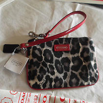 Coach Wristlet  Parker Ocelot Animal Print  Msfrp 58 F49466 New With Tags Photo