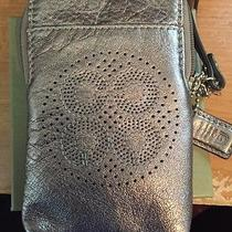 Coach Wristlet/ Phone Holder/ Wallet Silver Metallic Photo