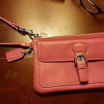 Coach Wristlet Pink Leather Photo