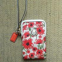 Coach Wristlet Red Poppies Holds Iphone 4 and 5  Photo