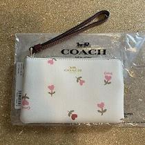 Coach Wristlet Signature Brown Heart Floral Valentines Day Bag Clutch Nwt Photo
