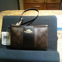Coach Wristlet Signature Leather New W/tags Free Shipping Photo