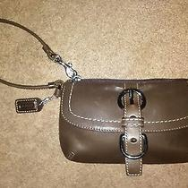 Coach Wristlet / Solid Brown Leather Photo