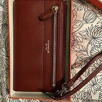 Coach Wristlet Wallet Red Leather Photo