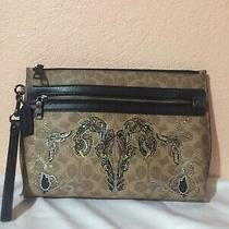 Coach X Chelsea 1941 Tattoo Moth Academy Pouch Signature Canvas Clutch 36169 Photo