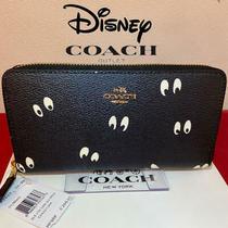 Coach X Disney Collaboration Snow White Eye Print Long Black Wallet Limited Gift Photo