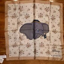 Coach X Disney Floral Blossom Dumbo Silk Scarf Square 22 X 22 Nwt 89847 Photo