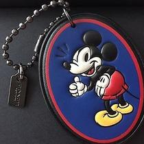Coach X Disney Mickey Mouse Hangtag Leather Limited Edition Keychain New Photo