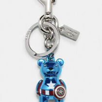 Coach X Marvel Captain America Bear Bag Charm Key Chain Ring Photo