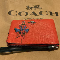 Coach X Marvel Red Spider Man Leather Limited Edition Wristlet Clutch Sold Out Photo