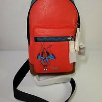 Coach X Marvel West Pack With Spiderman Leather Backpack Sling Bag  Photo