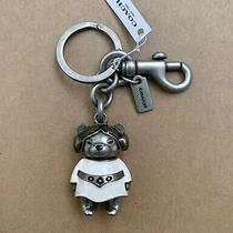 Coach X Star War Princess Leia Bear Bag Purse Charm Key Chain Ring Fob New 78815 Photo