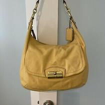 Coach Yellow All Leather Purse Photo