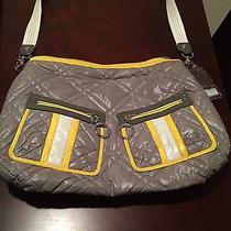 Coach Yellow and Gray Quilted Microfiber Hobo Purse - Poppy Collection Photo