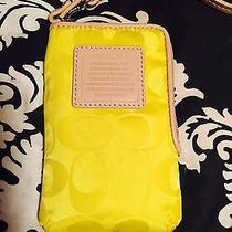 Coach Yellow Iphone Case/camera Wristlet. Nwot Photo