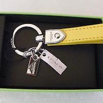 Coach Yellow Leather Loop Key Ring  New in Coach Box 66054b Photo