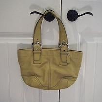 Coach Yellow Leather Purse Photo