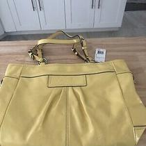 Coach Yellow Patent Leather East West Gallery Tote Shoulder Bag Style F14859 Photo