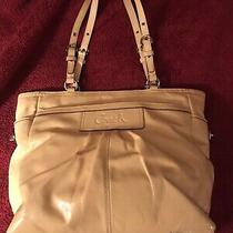Coach Yellow Patent Leather East West Gallery Tote Shoulder Bag Tote F14859 Euc Photo