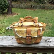 Coach Yellow Soho Optic Small Tote Bag Mo4q-1853 Photo