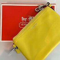 Coach - Yellow - Wristlet Purse - New With Box Photo