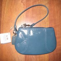 Coach Z Soho Blue Patent Leather Wristlet Purse- 47648 Photo