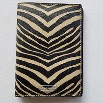 Coach Zebra Passport Case Holder Wallet F67740 Mrsp 78.00 Photo