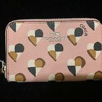 Coach Zip Around Coin Card Case Holder Wallet F25844 Nwt Photo