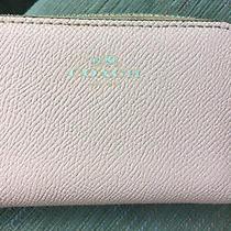 Coach Zip Around Leather Coin Card Case Dark Blush Pink Euc Photo