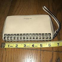 Coach Zip Around Wallet/ Wristlet With Silver Studs. Photo