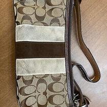 Coach Zippered Handbag With Card Case Photo