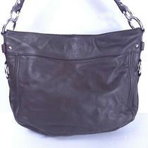 Coach Zoe 14707 Brown Leather Hobo Purse Shoulder Handbag Satchel Photo