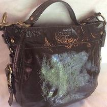 Coach Zoe Brown Patent Calf Leather Xl Belted Carryall Shopper Tote 12776 548 Photo