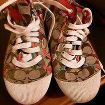 Coach Zoe Sneakers Wm Sz 8.5b. Multicolor.  Photo