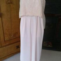 Coast Blush Lace  Boned Bodice Wideleg Jumpsuit With Pockets Stunning Details 12 Photo
