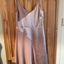 Coast Dress 14 Fit  Flare Lined Sloped Hempart Satin Feel in Blush/pink Nwt Photo