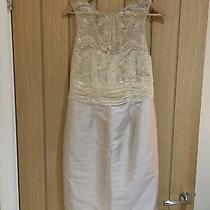 Coast Lace Bodice and Silk Dress Cream Blush Metallic Wedding  Size 12 Photo