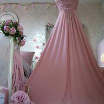 Coast Size 14 New Tags Blush Pink Stretch Maxi Dress Halterneck Photo