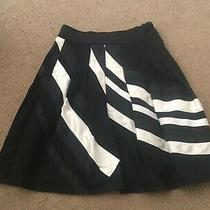 Coast Skirt Flare a-Line Black/white Draped Guc Size 8/xs-S Theory Designer 400 Photo