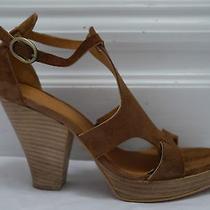 Coclico 325 Duke Brown Suede Heels Platform Sandals Size 39 Worn Once Photo