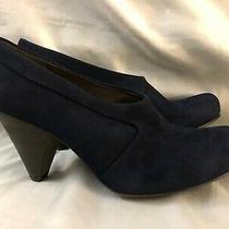 Coclico Womens Prey Shoes Heels Pumps Navy Suede Size 9.5 M 39.5 High Blue 3