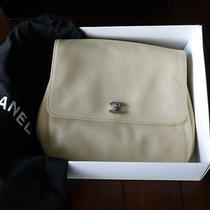 Coco Chanel Backpack Leather Beige Cream Caviar Leather With a Box  Photo