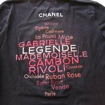 Coco Chanel Black With Pink Logo T-Shirt Promotion Stretch Cotton S 3/4 Sleeves Photo